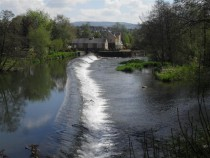 The River Teme Weir at Ludlow